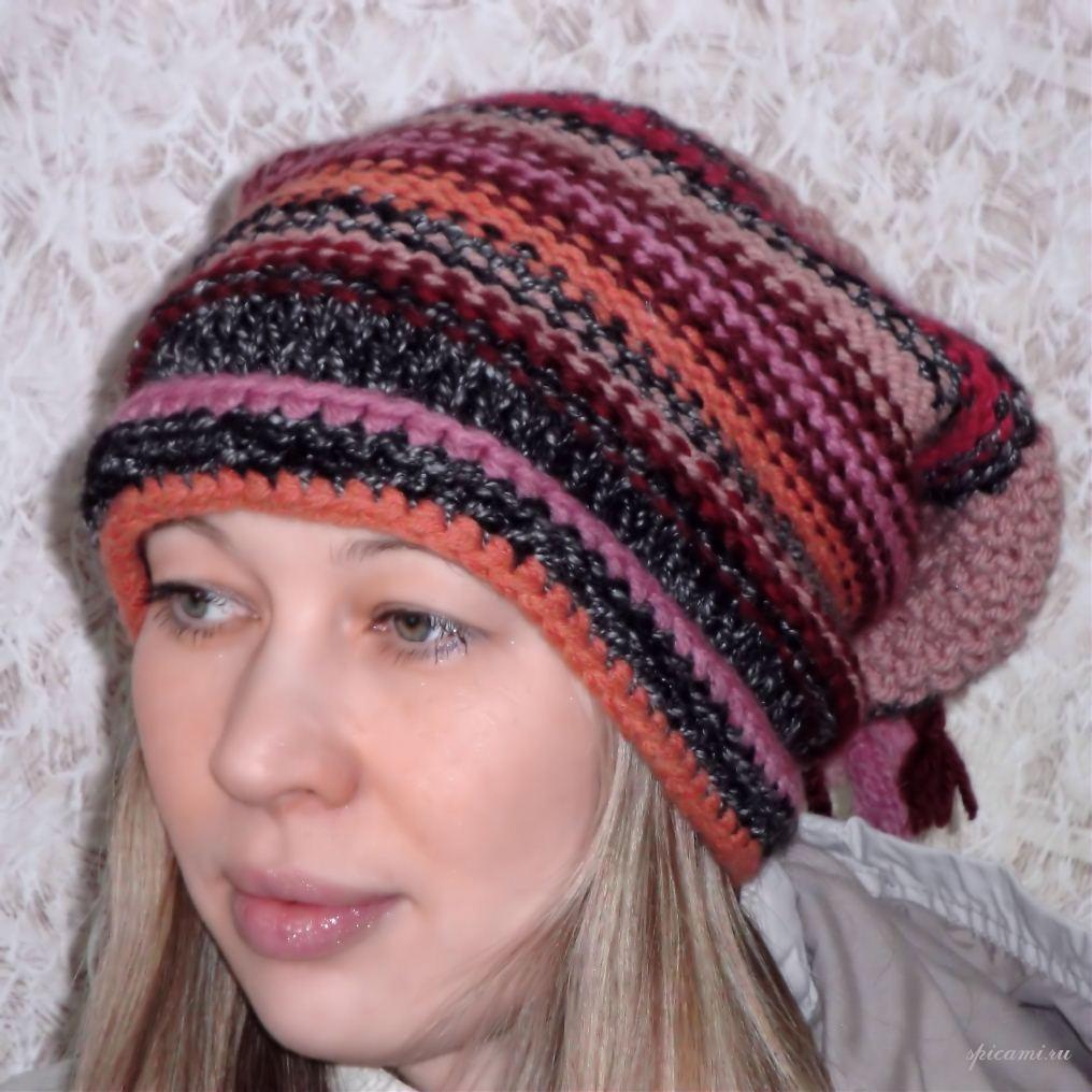 Вязаная шапка на зиму