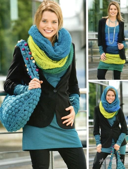 Актуальными моделями теплых шарфов осень-зима являются кольца, хомуты.
