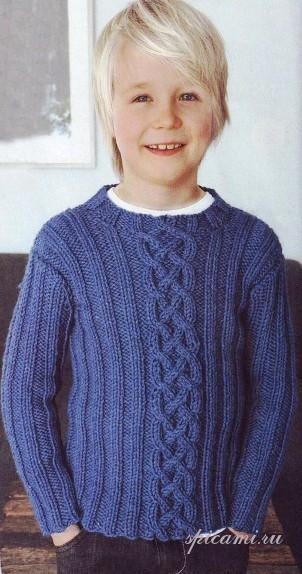 Вязание свитер для мальчика
