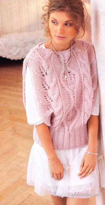 Бесплатные схемы вязания спицами женских пуловеров и свитеров