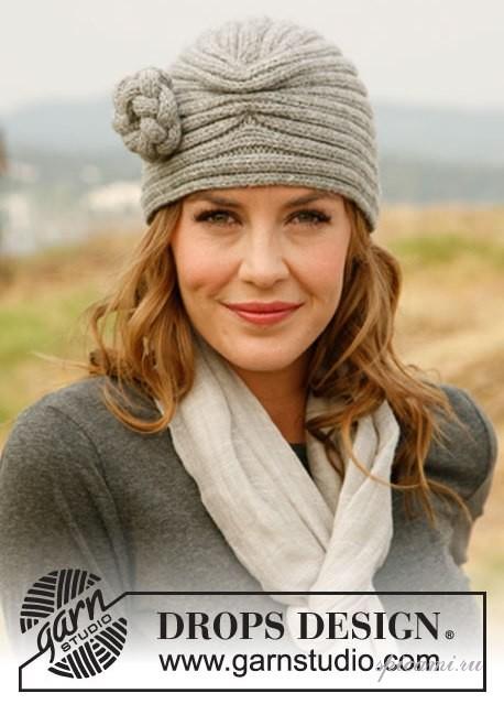 Для шапочки вам потребуется 100-150 гр. шерстяной пряжи (50 гр/100м),спицы 4мм.  Описание-перевод из журнала...