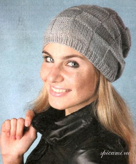 Вязаная шапочка вязание спицами крючком уроки вязания