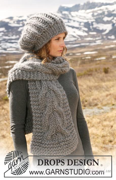 И широкий шарф замечательный комплект