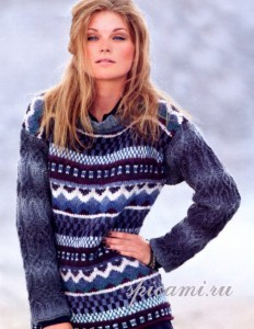 пуловер с жаккардовыми узорами