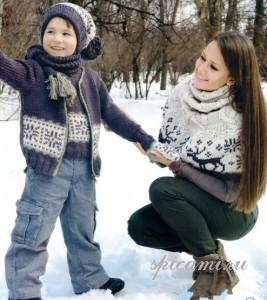 вязаный жилет и свитер для мальчика