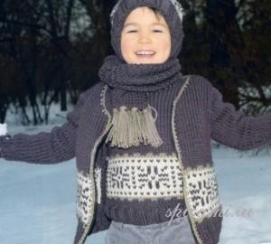 свитер и жилет для мальчика