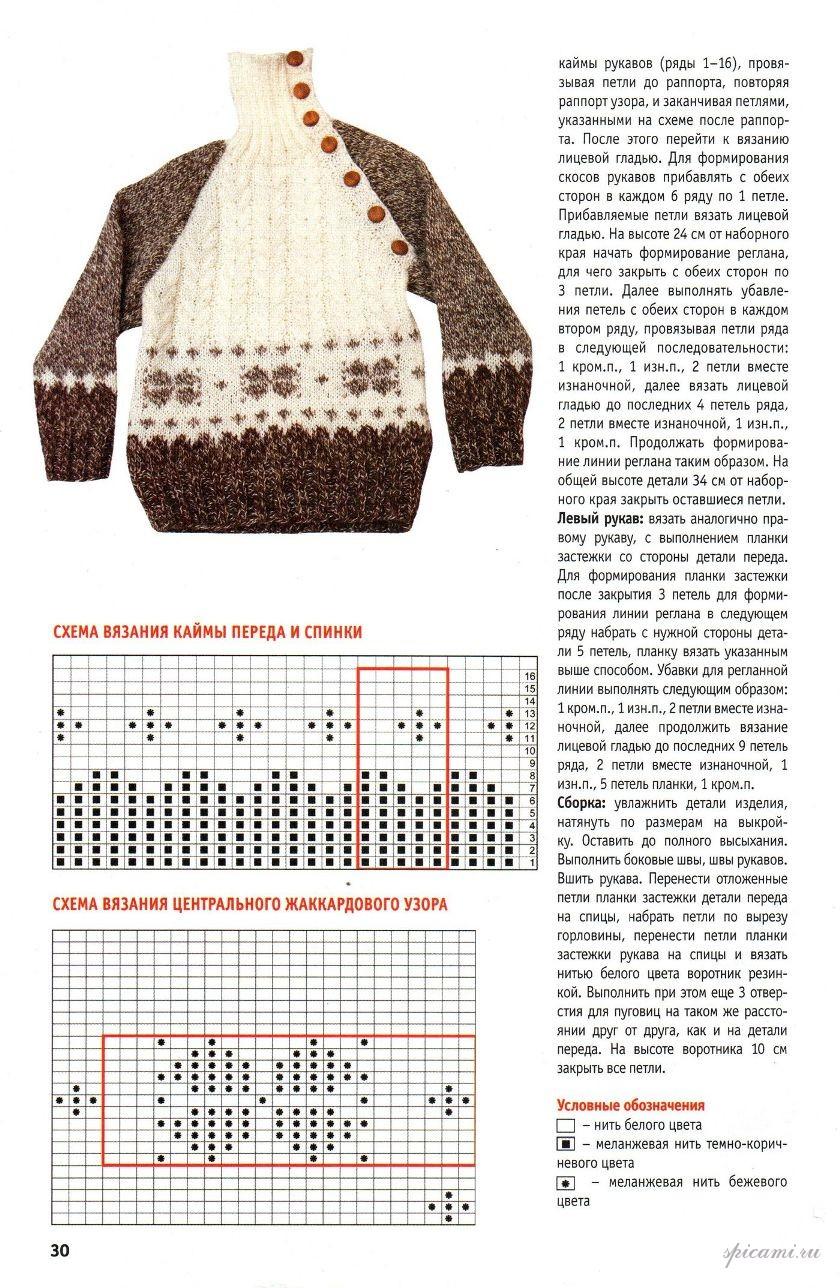 Вязание свитера для детей схемы