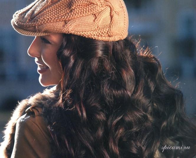 вязание шапок с отворотом спицами для женщин.
