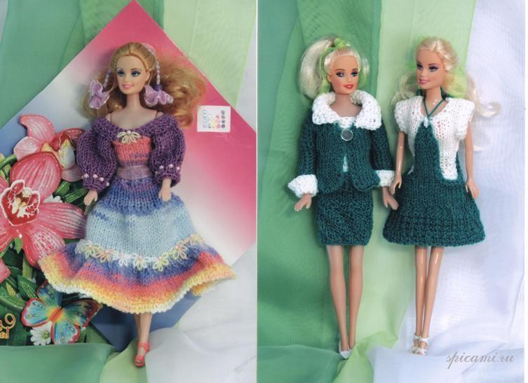 Вязать платье на куклу своими руками