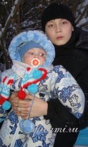 шарф для малыша спицами