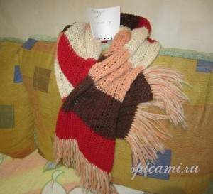 вязаный женский шарф