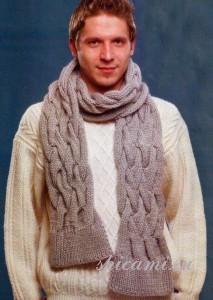 вязаный шарф и свитер для мужчины