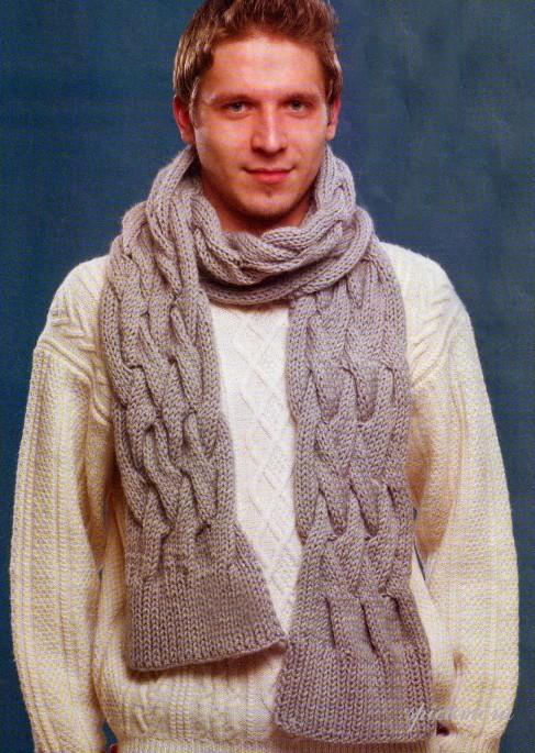 Как самой связать шарф хомут спицами 87