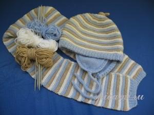 вязаная щапочка и шарфик
