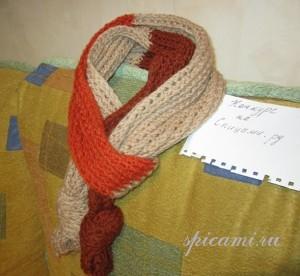 вязаный детский шарфик