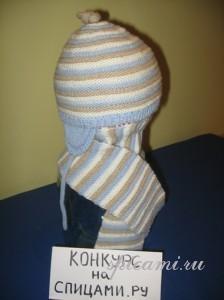 шапочка и шарфик спицами