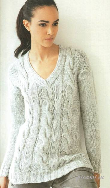 Модели вязаных женских свитеров