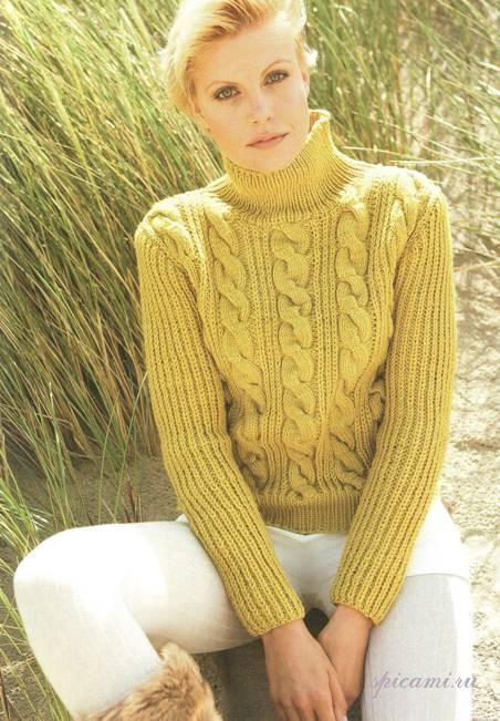 какую пряжу выбрать для мужского свитера спицами