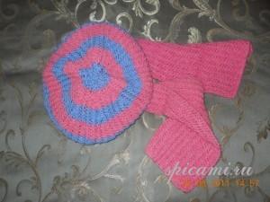 берет и шарф для девочки