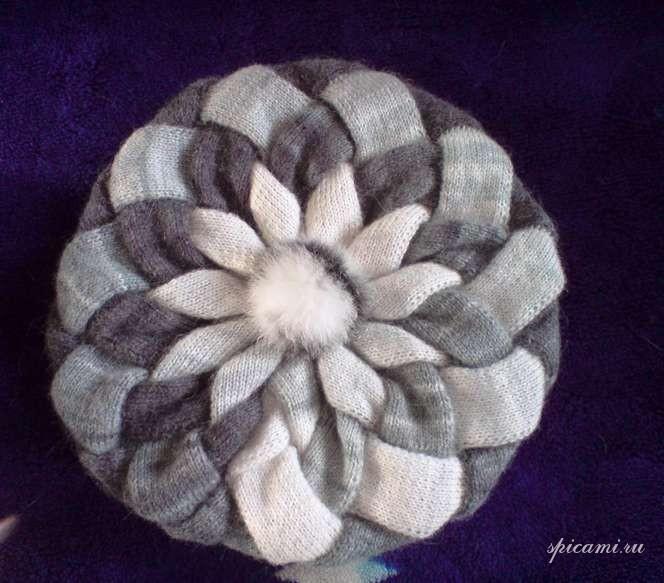 Берет узор плетенка