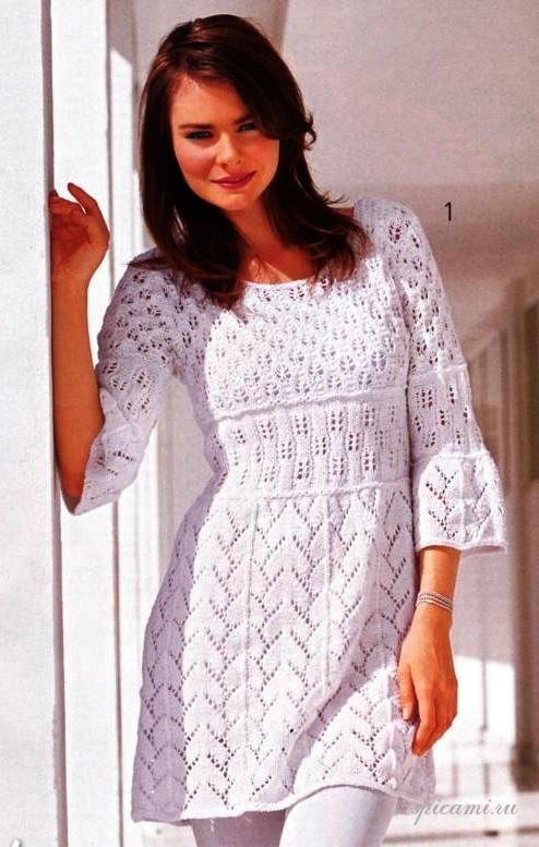 Вязаные платья на лето с описанием (подборка спицами - Вязание, Вязаные