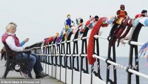 олимпийский шарф спицами
