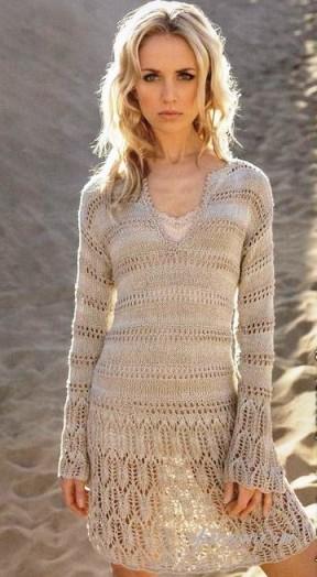 вязаные платья на лето с описанием подборка спицами вязание