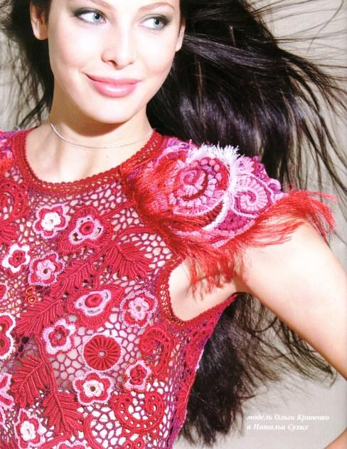 Самое красивое платье вязание крючком.