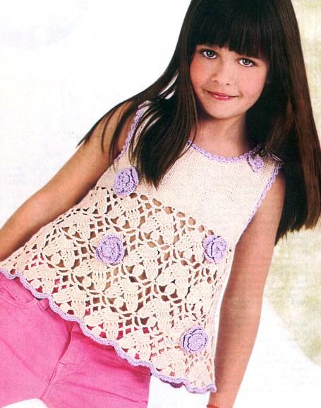 """На нашем женском портале  """"Дамочка """" Вы в любой момент можете отыскать публикацию - вязание кофточки для девочки, с..."""