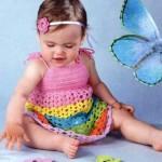 Сарафаны для девченок.  Дашкин Дом опубликована подборка по вязаным сарафан для девочек от полугода до 5-6 лет.