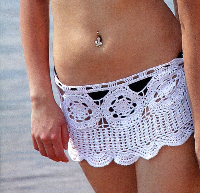 Как связать пляжную юбку крючком
