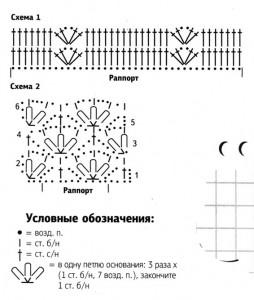 вязаный сарафан схема