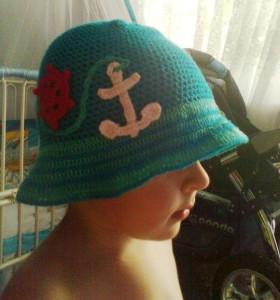 вязаная панамка для мальчика