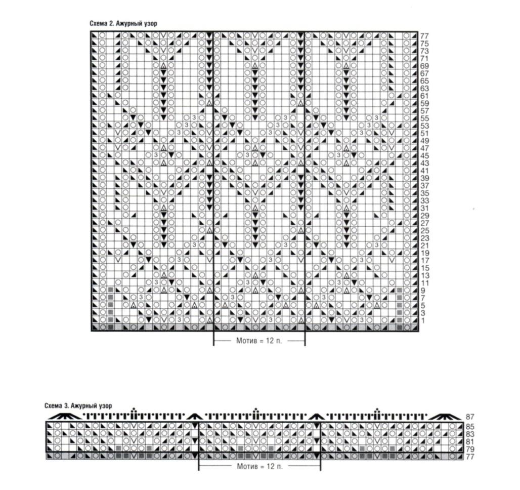 Ажурное вязание спицами для женщин кардиганы схемы  396