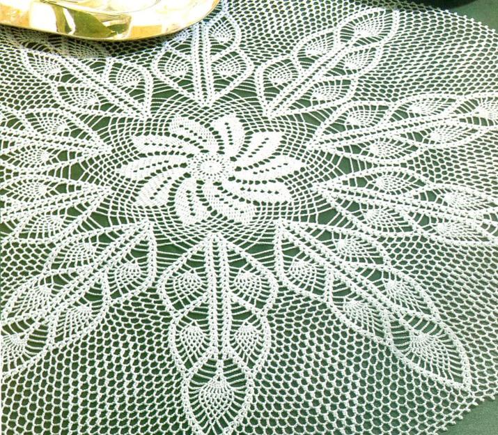 Уроки вязания крючком скатерти