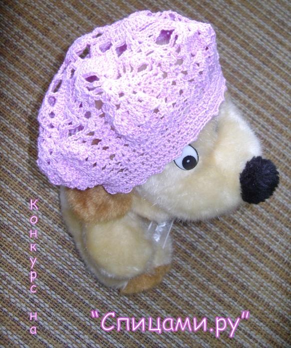 Вязаный берет на лето для девочки Модная одежда своими руками, вязание, шитье, кройка, вязание спицами, крючком...