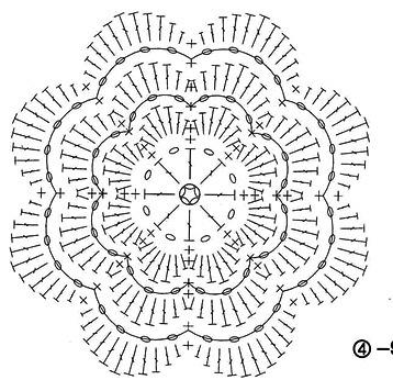 Вязание крючком цветы схемы фото розы