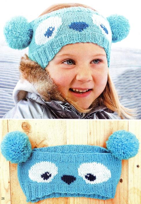 Вязаная детская шапочка.  Клуб Модного трикотажа.
