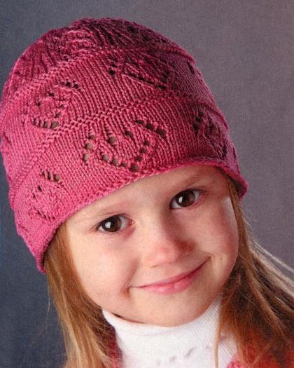 Вязаная шапочка для девочки | Вязание