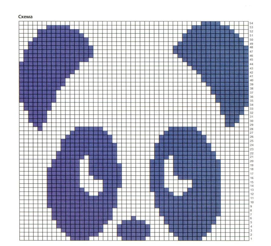 Как связать шапку панду спицами схема