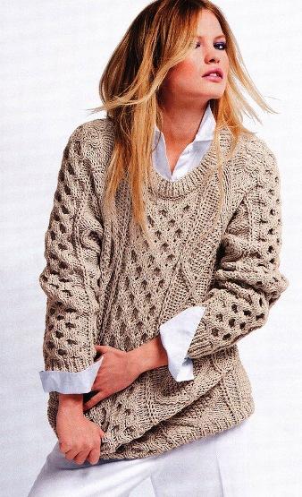 Вязание на спицах свитера молодежные