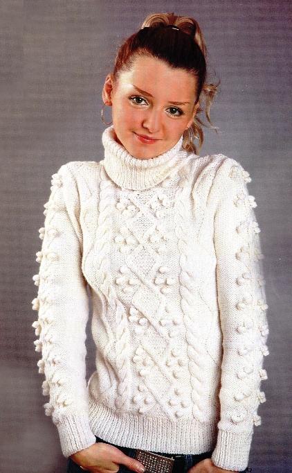 Вязаные свитера спицами : схемы, описания вязания