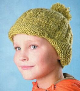 шапочка с ушками для мальчика