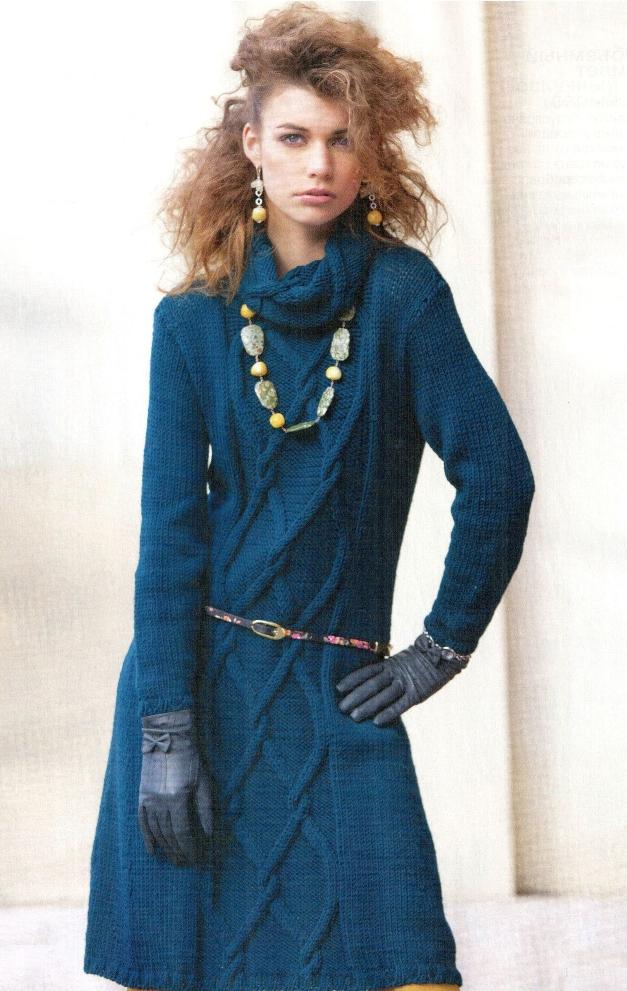Вязаное платье спицами | Вяжем с Ms Lana Vi