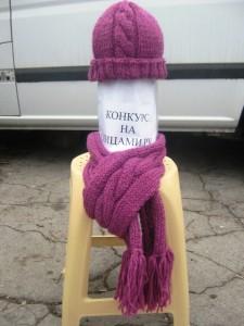 вязаная шапка и шарф спицами