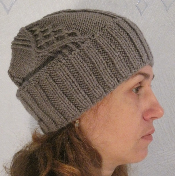 Схема вязания мужской шапки спицами фото 64