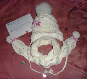 шапочка и шарфик для девочки с описанием