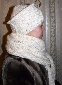 вязаная шапочка зимняя