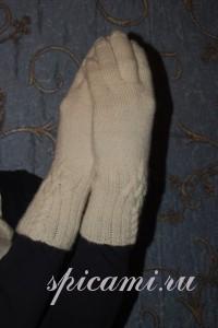 вязаные перчатки спицами с описанием