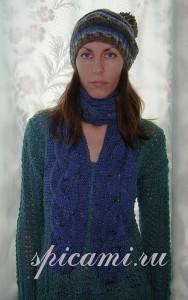 длинный шарф спицами с описанием